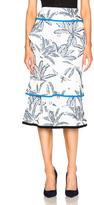 Roland Mouret Vivian Palm Fils Coupe Skirt