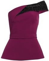 Safiyaa Vanida One-Shoulder Sparkle Top
