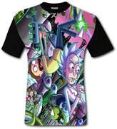 Funcllcc Rick and Morty Men's Fashion Short-Sleeved Round Collar T-shirt 3XL