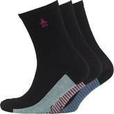 Original Penguin Womens Three Pack Socks Black