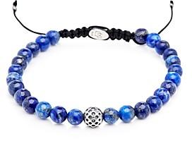 Lapis Degs & Sal Sterling Silver & Beaded Bracelet