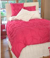 Poodle Pucker Duvet in Hot Pink