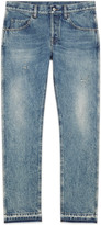 Gucci Bleached washed denim tapered pant