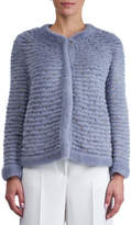 Gorski Round-Neck Layered Mink Jacket