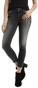 Mavi Jeans Adriana Raw Hem Skinny Jeans in Gray Every