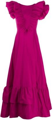 P.A.R.O.S.H. Ruffle-Trimmed Maxi Dress