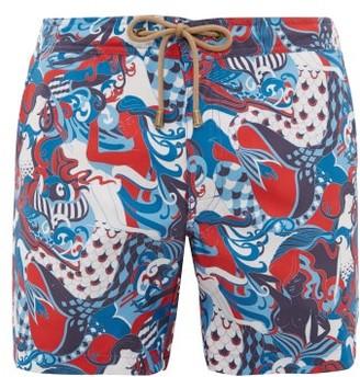 Thorsun Mermaid-print Swim Shorts - Mens - Multi