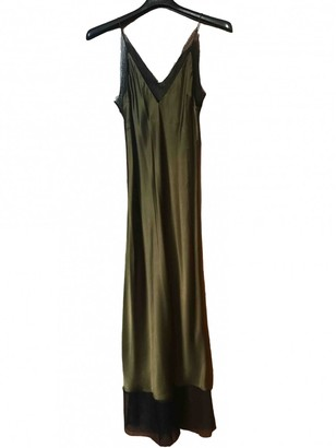Walk of Shame Green Silk Dresses