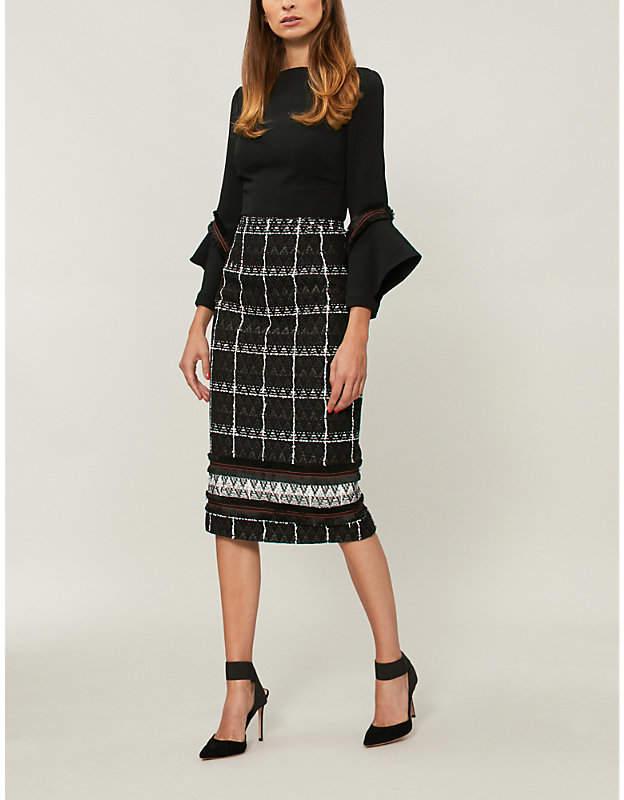 Roland Mouret Elvey cotton-blend midi dress