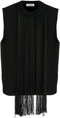 Jil Sander Macrame-Necklace Vest