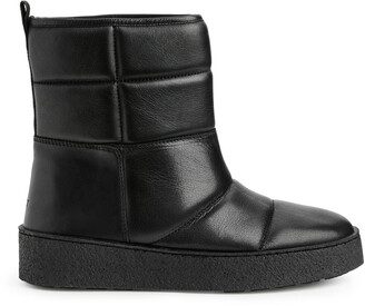 Arket Quilted Leather Boots