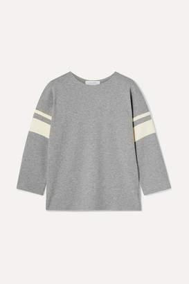 La Ligne Varsity Striped Cotton-jersey Sweatshirt - Gray