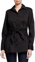 Finley Ellis Tie-Front Long-Sleeve Tunic