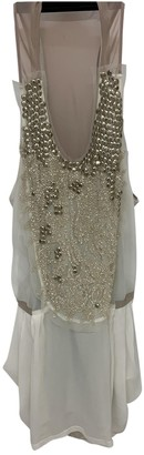 Barbara Bui Beige Silk Dress for Women