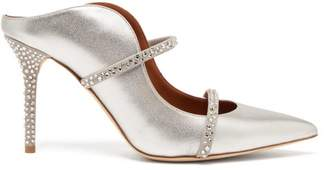 Malone Souliers Maureen Crystal-embellished Leather Mules - Womens - Silver