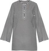 Dolce & Gabbana Striped cotton-poplin cover-up
