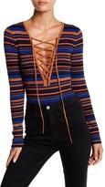 Majorelle Mindy Lace Up Bodysuit