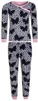 Hatley FLORAL BUTTERFLIES WRAP OVER Pyjama set dark blue