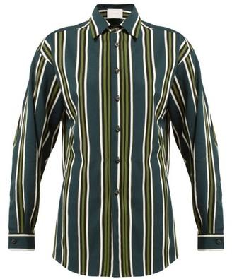 Marios Schwab Ransvik Striped Shirt - Green Stripe