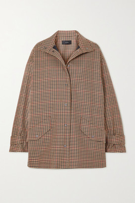 Joseph Calypso Checked Wool-blend Jacket - Brown