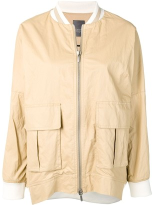 Lorena Antoniazzi Zipped Bomber Jacket