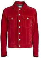 Saint Laurent Men's Suede Jacket -Red