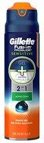 Gillette Fusion ProGlide 2 in 1 Shave Gel, Sensitive Alpine Clean, 6 Ounce