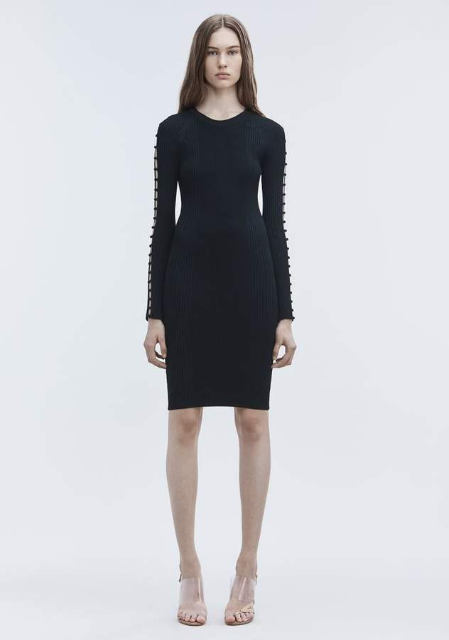 Alexander Wang BRA STRAP MIDI DRESS Short Dress