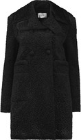 Carven Double-breasted padded faux shearling coat