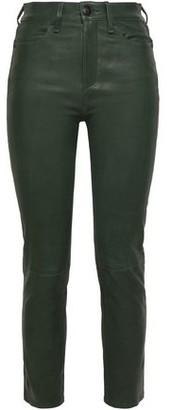 Rag & Bone Cropped Leather Skinny Pants