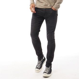 Jack and Jones Mens Liam Original Jj 179 50sps Lid Skinny Jeans Black Denim