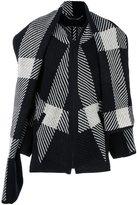 Barbara Bui 'Checks' snood collar coat