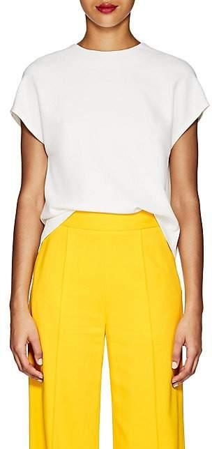 Lisa Perry Women's Silk Crepe Flyaway Blouse - White