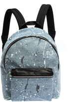 Thumbnail for your product : Amiri Wash Blue/Black Paint Denim and Leather Splatter Backpack