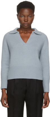 Arch4 Blue Cashmere Clifton Gate Polo Sweater
