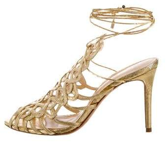 Alexandre Birman Leather Wrap-Around Sandals