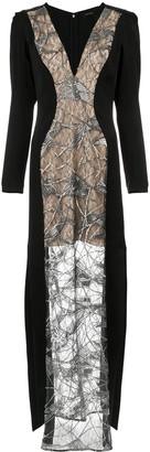 Tufi Duek lace panels gown