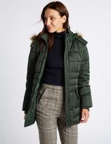 Marks and Spencer Satin Padded Jacket with StormwearTM