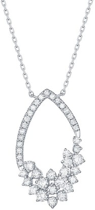 Lab Grown Diamond Marquise Shape Necklace, 3/4 Ctw 14K Solid Gold by Smiling Rocks