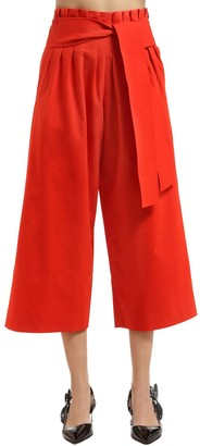 REJINA PYO Wide Legged Belted Cotton Pants