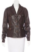 Tory Burch Leather Button-Up Jacket w/ Tags