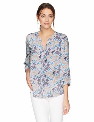 NYDJ Women's 3/4 Sleeve Pintuck Top