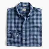 J.Crew Secret Wash shirt in heather poplin blue plaid