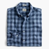 J.Crew Slim Secret Wash shirt in heather poplin blue plaid