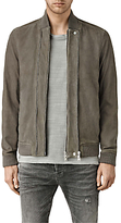 Allsaints Allsaints Kurne Leather Bomber Jacket, Steel Grey