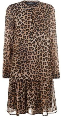 SET Leopard Print Midi Dress