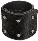 Rick Owens 6cm Ponyskin 6 Pin Bracelet