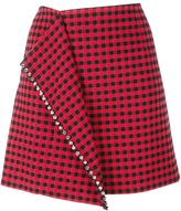 No.21 fold front mini skirt