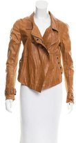 Donna Karan Embellished Leather Jacket