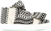 Ports 1961 bow hi-tops - men - Cotton/Leather/rubber - 39